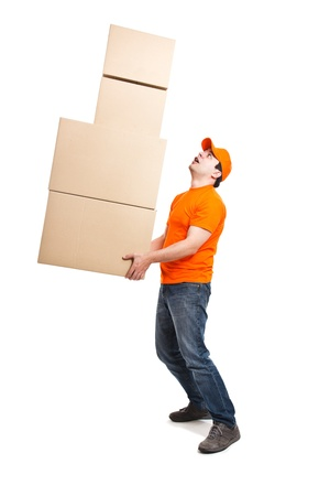 Portrait of an handsome deliverer Stock Photo - 13945114