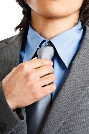 adjust: Portrait of a smiling businessman Stock Photo