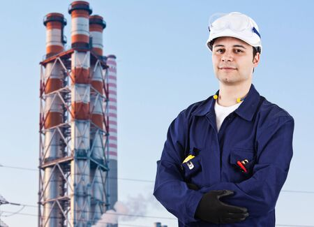 oil and gas industry: Portrait of a confident worker Stock Photo