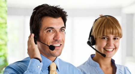 Portrait of an handsome customer representative Stock Photo - 13979271