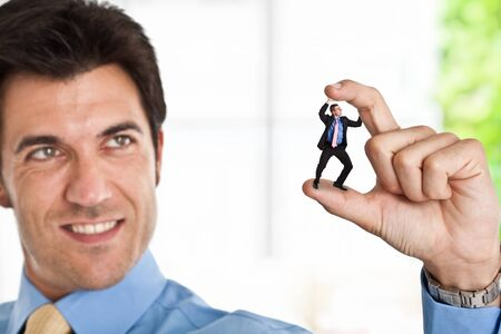 unfair: Little businessman getting crushed by a big bad one