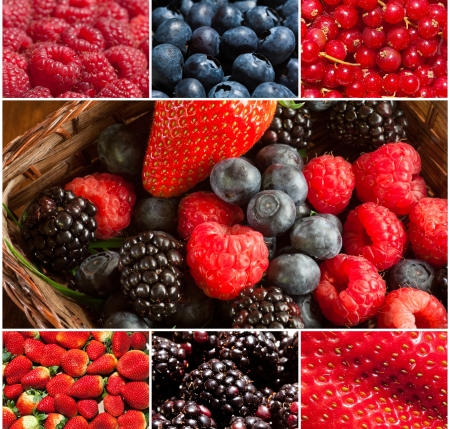 Composition of  fresh soft fruit images Stock Photo - 14020066