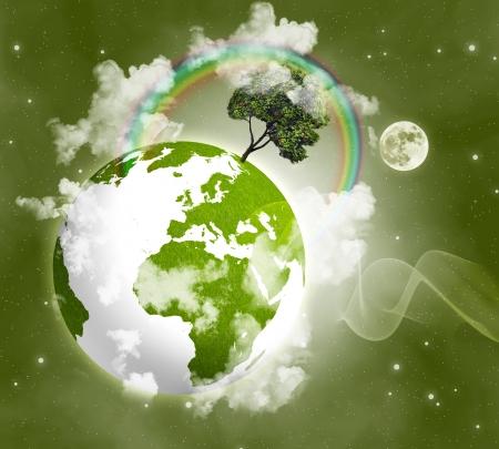 green planet: Plan�te verte dans l'espace Banque d'images