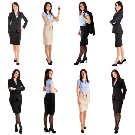 Collection of full length portraits of a beautiful businesswoman Stock fotó