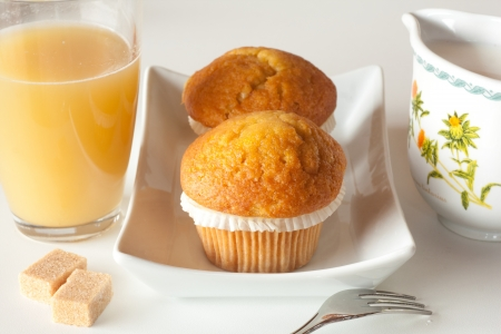 Fruit muffins on a table Stock Photo - 14020046
