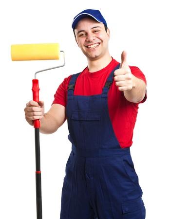 work workman: Portrait of a friendly painter