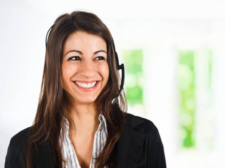 Beautiful customer representative portrait photo