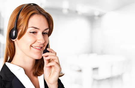 Portrait of a beautiful customer representative Stock Photo - 14156092