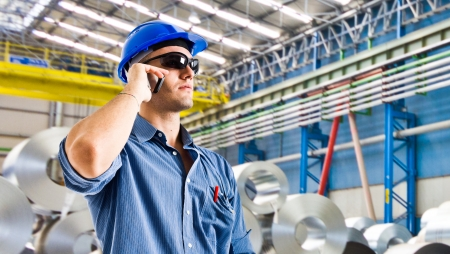 Confident engineer in a steel factory Stock Photo - 14116182