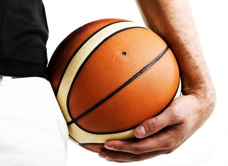 Basketball player holding the ball photo