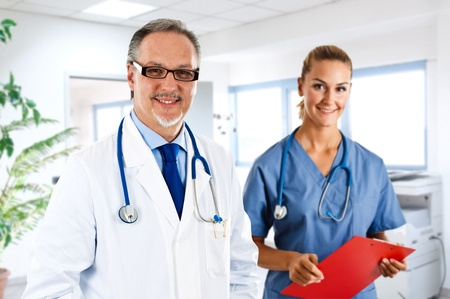 Portrait of an experienced doctor at work Stock Photo - 14115485