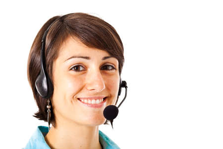 Portrait of a beautiful customer representative Stock Photo - 14169015