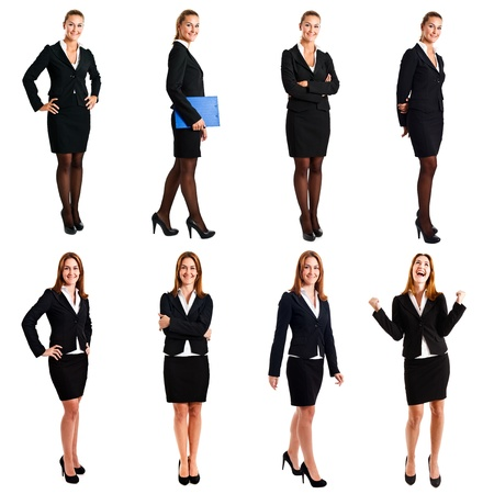 full length: Collection of full length portraits of a beautiful businesswoman Stock Photo