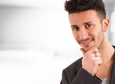Handsome young man portrait Stock Photo - 14169091