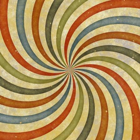 seventies: Vintage swirl background