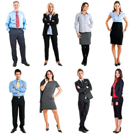 body work: Collection of full length portraits of business people