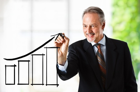 Business success and growth concept  photo