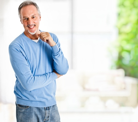 older men: Portrait of a happy mature man