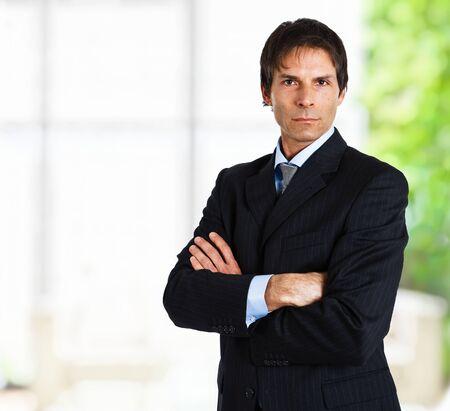 Portrait of a successful handsome businessman