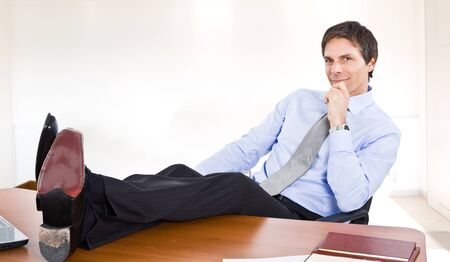 Portrait of a relaxed businessman photo