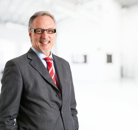 senior business: Portrait of a mature handsome businessman  Stock Photo