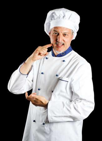 Portrait of a friendly chef photo