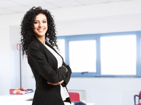 Portrait of a young smiling businesswoman Stock Photo - 14375146