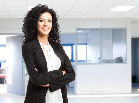 Portrait of a young smiling businesswoman Stock Photo - 14375370