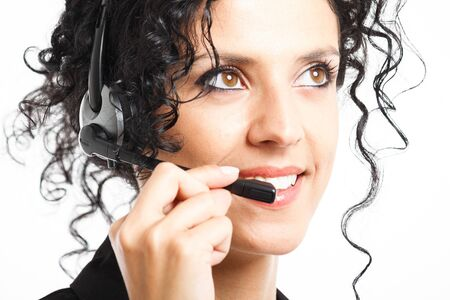 Portrait of a beautiful customer representative Stock Photo - 14375487