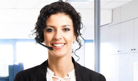 Portrait of a beautiful customer representative Stock Photo - 14375142