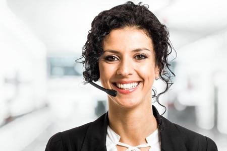 telephone headsets: Retrato de un representante de nuestro bello