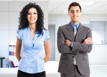 Portrait of two business partners Stock Photo - 14374988