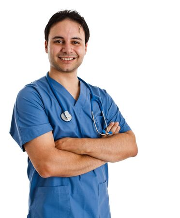 Portrait of a friendly doctor smiling Stock Photo - 14374834