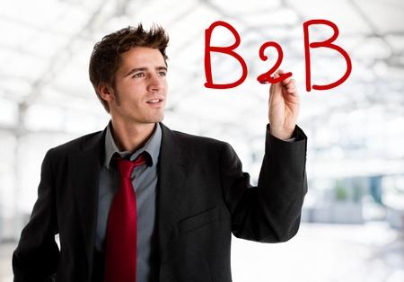 b2b: La escritura del negocio B2B en la pantalla