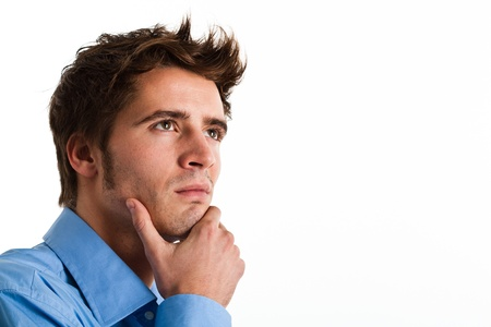 Portrait of a thoughtful man Stock Photo - 14375351