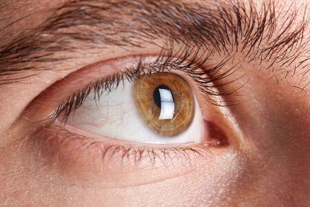 human skin texture: Macro shot of an eye