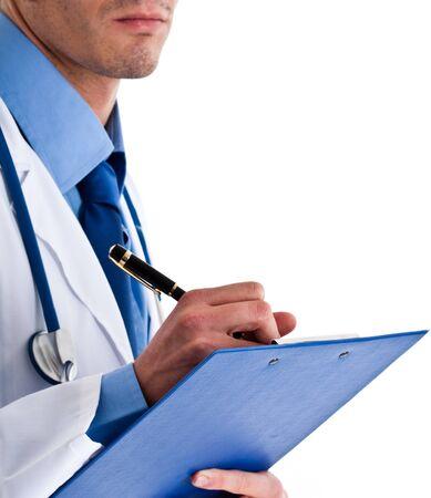 Doctor writing a prescription Stock Photo - 14374904