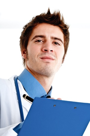 Portrait of an handsome doctor photo