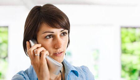 Portrait of a beautiful customer representative at work Stock Photo - 14375078