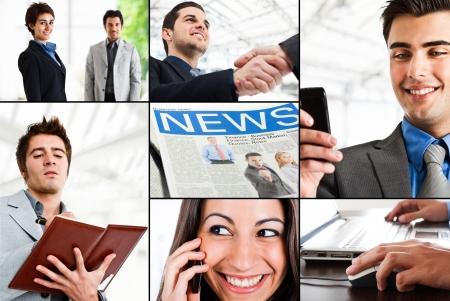 Composition of active business people Stock Photo - 14598686