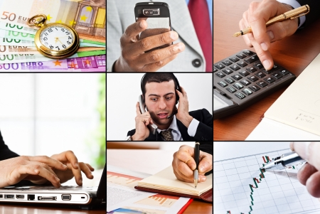 Collage of business and finance related images Stock Photo - 14598689