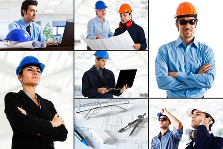 female engineer: Composition of industry related images