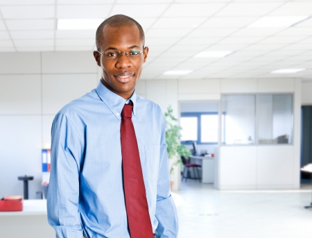 young executives: Portrait of an handsome black businessman