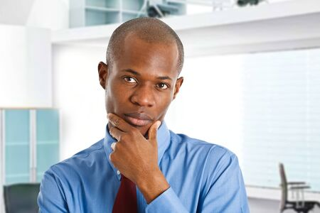 Portrait of a thoughtful businessman Stock Photo - 14598533