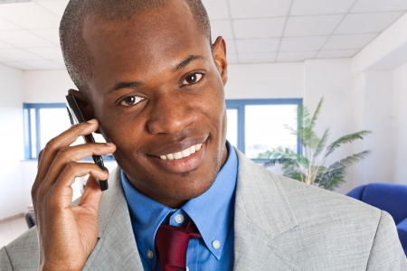 Portrait of a businessman talking on the phone Stock Photo - 14598657
