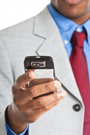 Businessman using a mobile phone photo