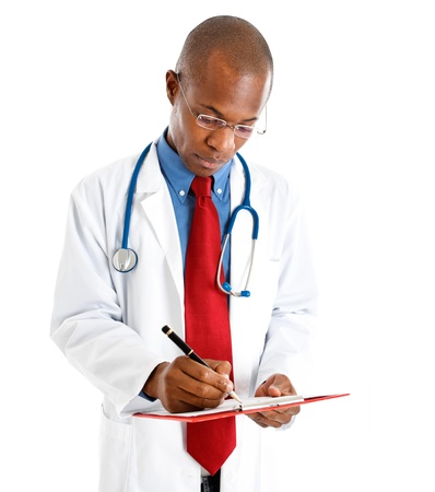 prescriptions: Portrait of an handsome doctor Stock Photo