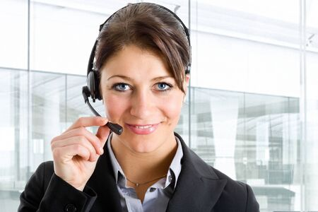 Portrait of a beautiful customer representative Stock Photo - 14598594