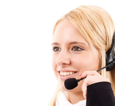 Phone operator helping a customer Stock Photo - 14598430