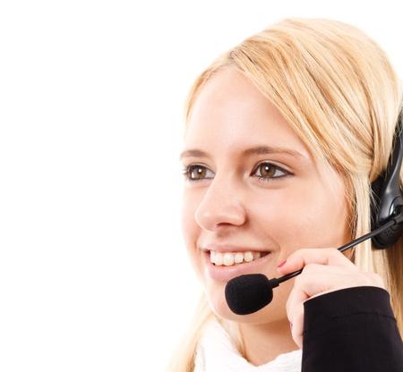 phone operator: Phone operator helping a customer
